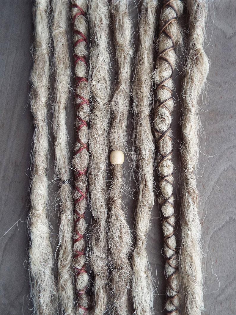 8 Custom Crocheted Clip In or Braid In Dreadlock Extensions image 0