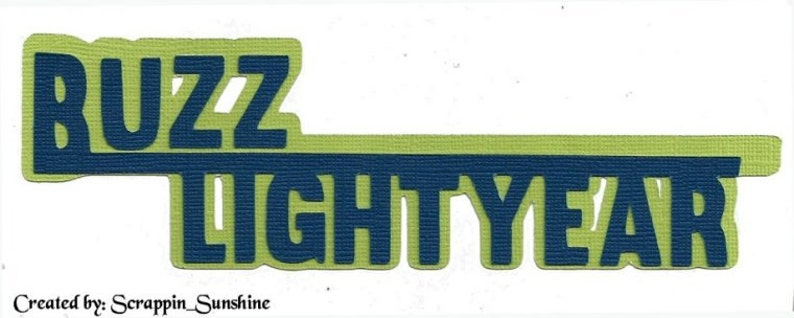 Disneys Buzz Lightyear page title printed die cut