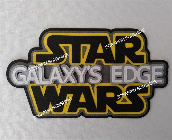 SSFF Disney STAR WARS Galaxys Edge Die Cut Title Scrapbook Paper Piecing