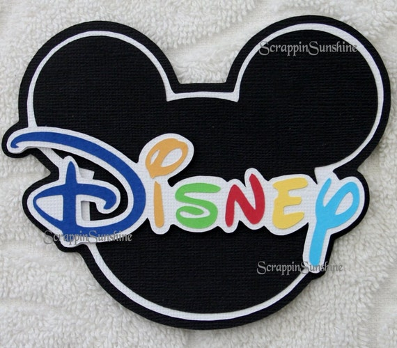 DISNEY Now Its Time to Say Goodbye Die Cut Title SSFF Scrapbook Page Paper Piece Piecing