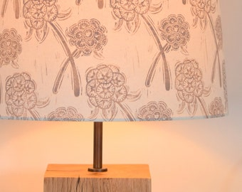 Scabiosa - Plant-Dyed + Block Printed Lampshade