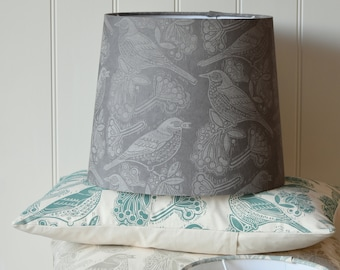 Fieldfares - Plant-Dyed + Block Printed Lampshade