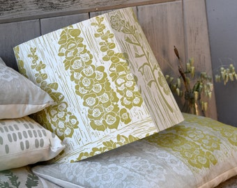 Summer Meadow - Plant Dyed + Block Printed Patchwork Lampshade