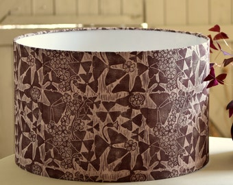 Oxalis - Plant-Dyed + Block Printed Lampshade