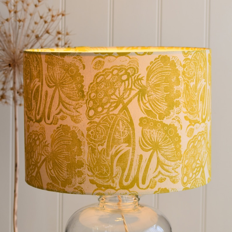 20% off Queen Anne's Lace  Plant-Dyed  Block Printed image 0