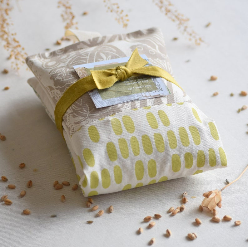 Patchwork Wheat  Lavender Bag  Queen Anne's Lace  Grey image 0