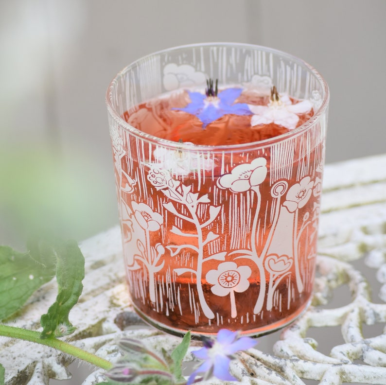 New  Summer Meadow Glass Carafe  Tumblers image 0