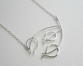 Wiveton Necklace one. Sterling Silver Seedhead Necklace by Kirsty O'Donnell