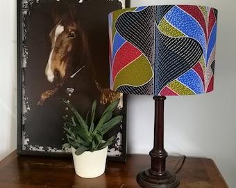 Lamp Shade Diameter 30cm, African Wax Print, Fabric Lampshade, Handmade Drum, African decor, African shade, African print, African light
