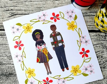 Customizable wedding invites, Afribo wedding invitation, Personalised wedding card, African greeting card, Wedding invite, African clothing