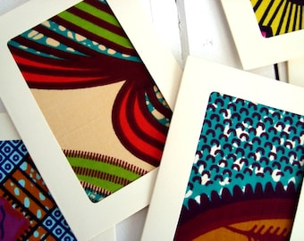 10 Wedding-invitations, African wax card set with envelopes, Fabric cards, Unique made to order cards Wedding invitations, Wedding invites