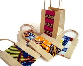 custom quantity Wedding favour, wedding favor, party bag, small gift bag, African wax print