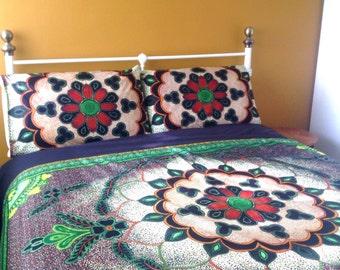 African wax print duvet cover, Queen size ready to ship  ( U.S ) African wax print bedding, African print decor, African print quilt