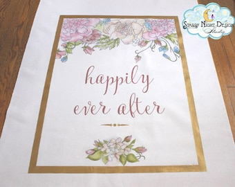 Aisle Runner, Wedding Aisle Runner/ Non slip/ Original hand drawn artwork / SAFETY GRIP Quality Aisle runner-Full FOAM Backing - Won't Tear