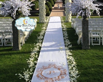 Aisle Runner, Wedding Aisle Runner, Custom Aisle Runner //Non slip// SAFETY GRIP Quality Aisle runner-Full FOAM Backing - Won't Tear