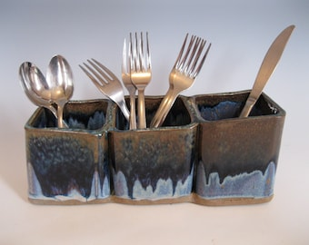 Silverware holder with three sections