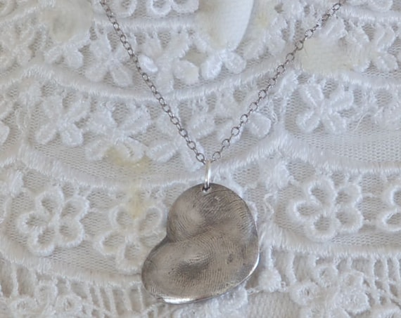 Best Friend Fingerprint Necklace - Valentine Necklace
