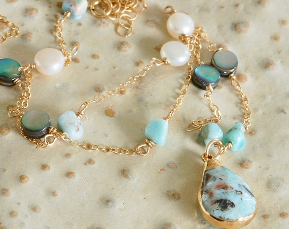 Lucious Larimar Necklace