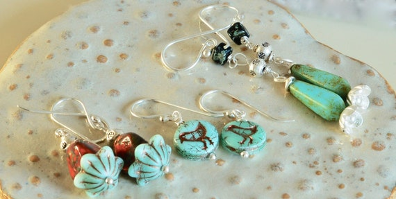 Birdy and Flower Earring Collection
