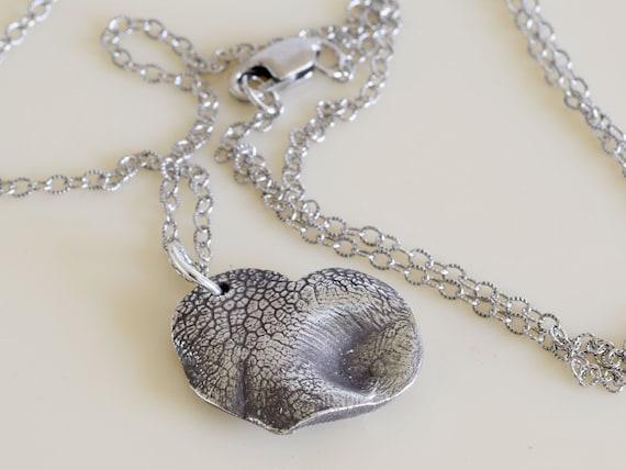 Pet Memorial Gift - Dog Nose Fine Silver Necklace - Dog nose heart necklace - pet gift - dog lover gift - pet sympathy gift - pet keepsake