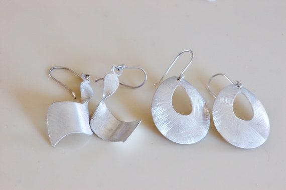 Art Gallery Brushed Silver Earrings