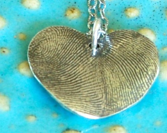 Mothers Day Gift - Meaningful Gift - Best Friend Necklace - Bride and Groom Gift - Gift for Mom - Sister Gift - Fingerprint Jewelry