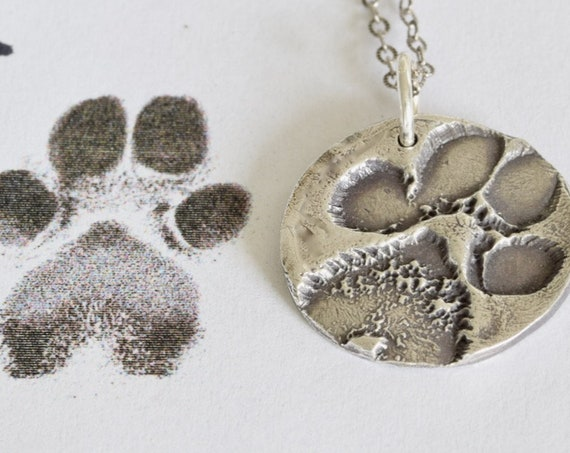 Pet Memorial Necklace - Paw Print Necklace - Paw Pad Charm - Memory Necklace - Pet Jewelry - sympathy gift - custom pet gift - pet loss