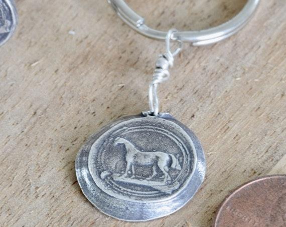 Horse Keychain - horse lover gift - cowboy keychain - western themed gift - cowgirl gift - horse lover keychain - keychain - wedding gift