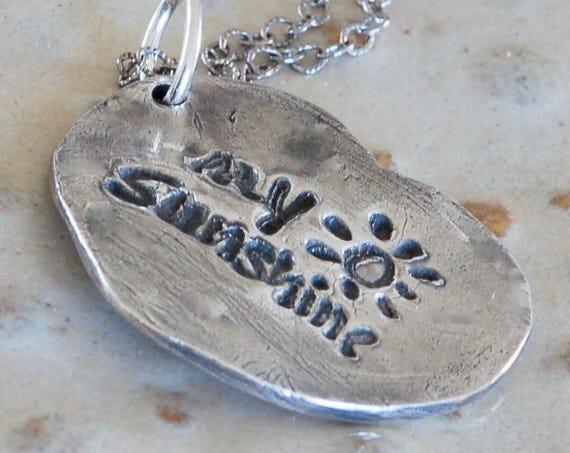 Script Custom made Necklace - Valentine Message
