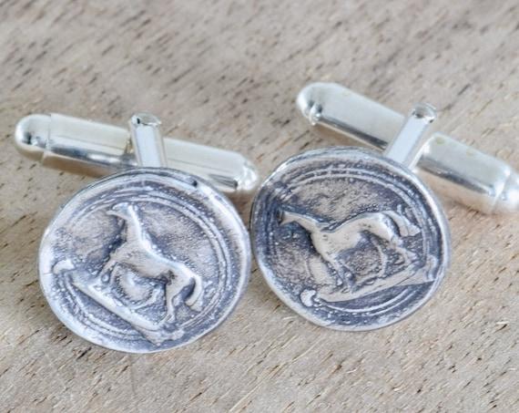 Horse Cufflink - Groom Gift - Cowboy Gift - Western themed gift - dad gift - brother gift - groomsmen gift - Cufflink gift