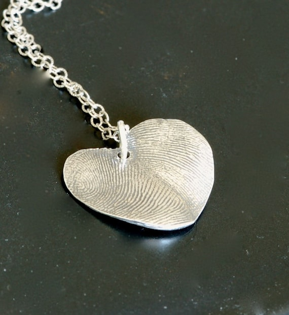 Fingerprint Jewlery - His & Hers Thumbprint Heart