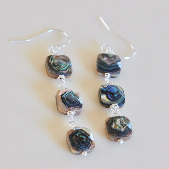 Exotic Abalone Earring  Set