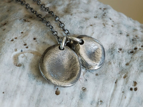 Fathers Day Gift - Fingerprint Dad gift - brother gift - mommy gift - Dad & Me - Fingerprint Jewelry - meaningful gift - gift for him