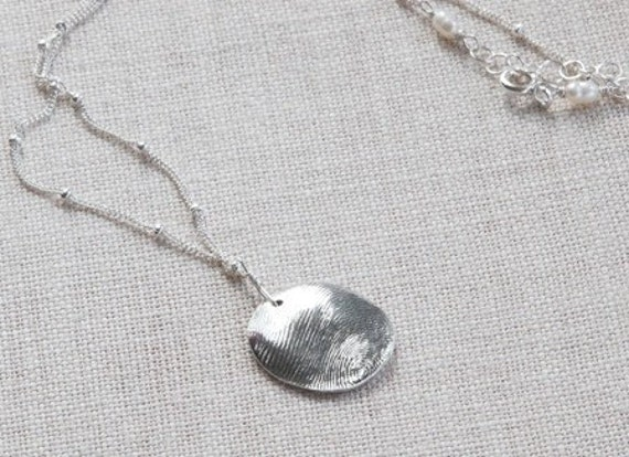 Fingerprint Jewelry - Hospice Keepsake Necklace - Personalized Necklace - Thumbprint Jewelry