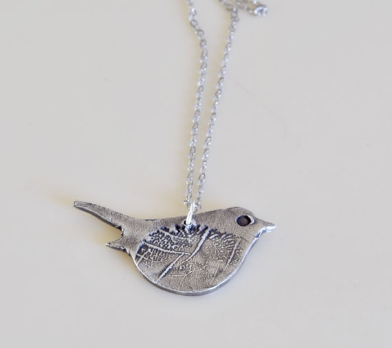 Gift for Mom - Fingerprint Jewelry - Gift for Mom - Personalized Jewelry - Fingerprint Birdy Necklace - Fingerprint Jewelry