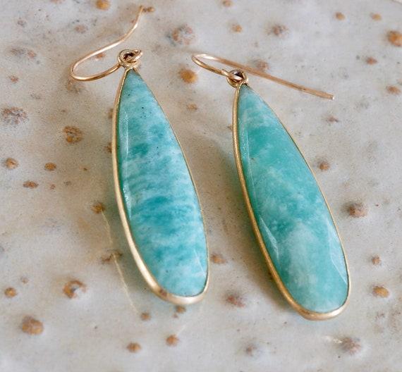 Green Goddess Amazonite Earrings