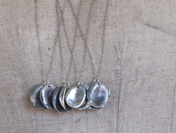 Fingerprint Jewelry - Group/Family Necklace and Keychain Set