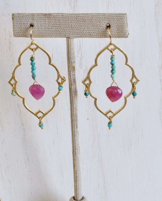 Boho Earring - Moroccan Earring - Hamsa Earring - Colorful earring - dangle earring - boho earring - beach jewelry - handmade earrings