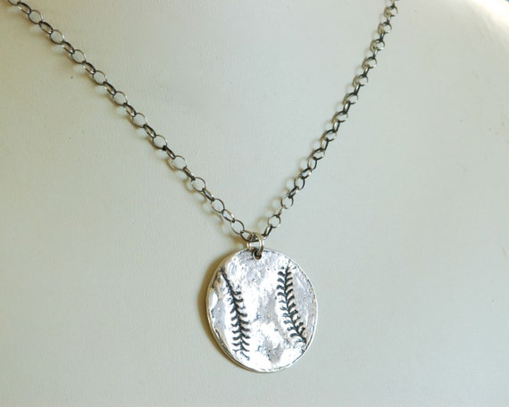 Fingerprint Jewerly - Take Me Out to the Ballgame Necklace