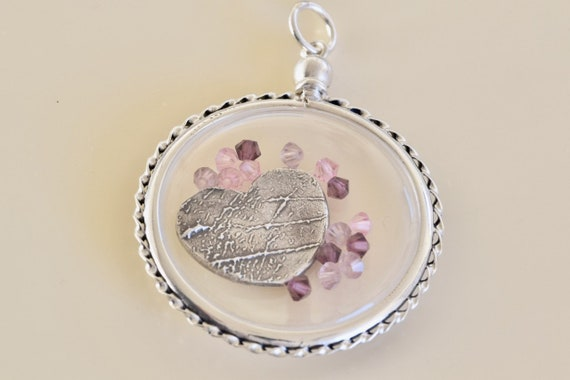Clear Locket -  Floating Locket - Memorial gift - Fingerprint Jewelry - Clear Acrylic Locket - Memory Keeper - sympathy gift Necklace