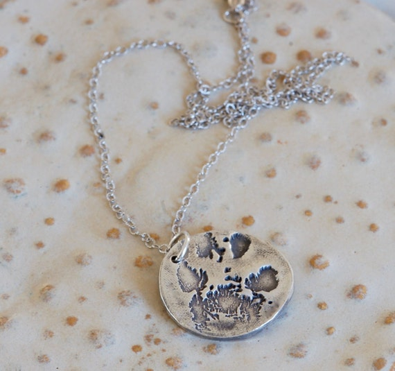 Pet Memorial Necklace - Paw Print Necklace - Custom made Jewelry- Memory Necklace