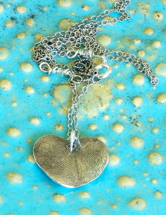 Special Aunt Fingerprint Necklace