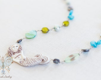 Mermaid in Shades of  Seaweed and Shells