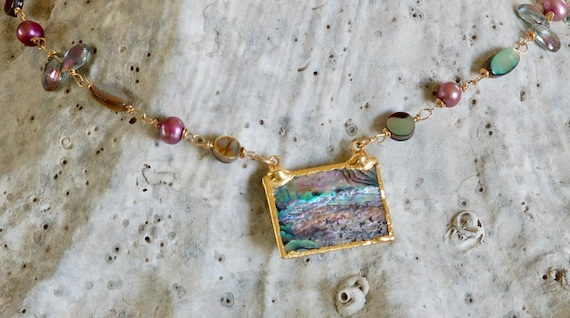 Seascape Abalone Necklace