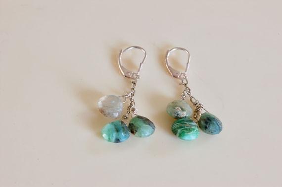 Precious Peruvian Opal Earrings