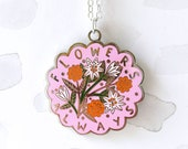 Flowers Always Necklace - Pink, flower jewellery, floral necklace, limited edition, gift for her