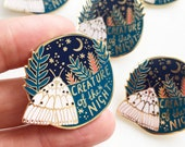 Creature of the Night Hard Enamel Pin, 2019 Limited Edition, moth pin, insect jewellery, celestial pin