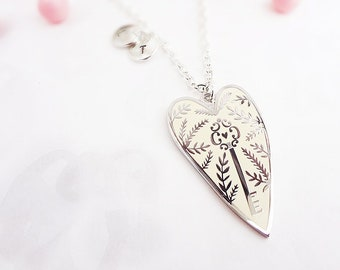 You Hold the Key Enamel Pendant Necklace - Silver