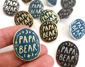 Papa Bear Enamel Lapel Pin Badge, Gifts For Dads, Father's Day, gift from daughter, new dad gifts