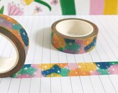Candy Bright Stars Washi, Journal Tape, Bujo Accessories, Celestial Washi Tape, Washi Tape UK, Pink, Green, Yellow, Cute Stationery